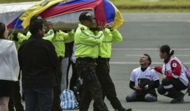 Cuerpos ecuatorianos asesinados en Colombia