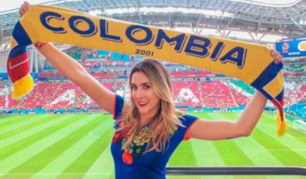Daniela Ospina apoya a la Selección Colombia