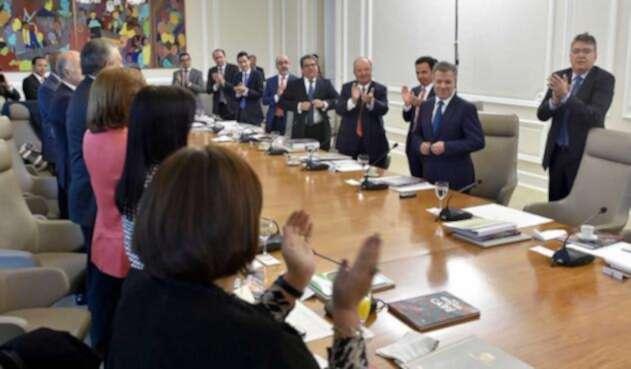 Último consejo de ministros de Juan Manuel Santos
