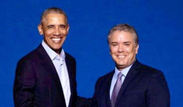 Barack Obama e Iván Duque