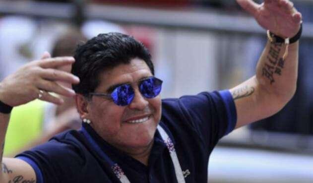 Diego Armando Maradona, excampeón del mundo con Argentina