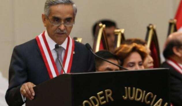 Duberlí Rodríguez, presidente del Poder Judicial peruano.