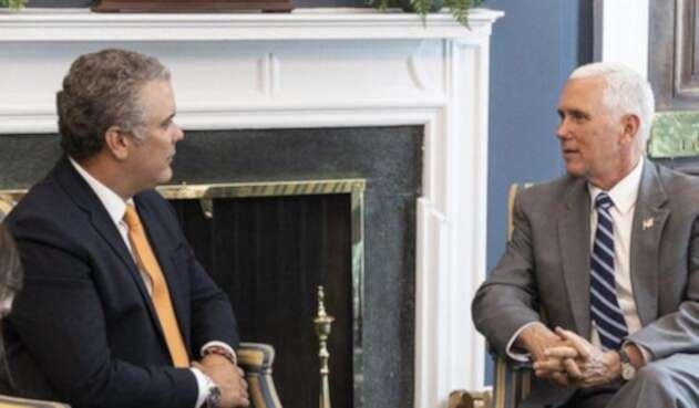 El presidente electo Iván Duque se reunió con el vicepresidente de EE. UU. Mike Pence