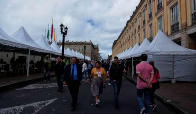 La Plaza de Bolívar de Bogotá en una jornada de elecciones