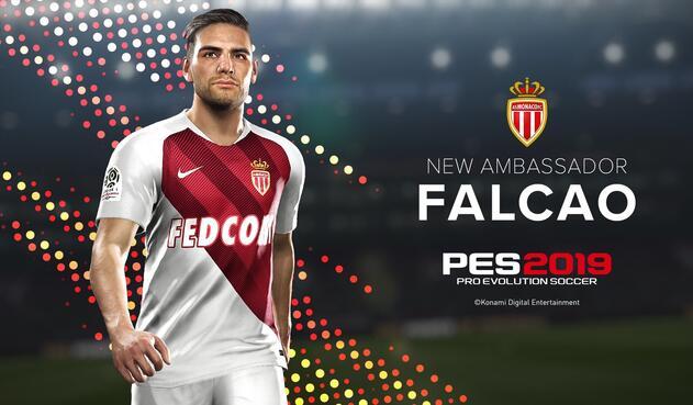 Falcao como nuevo embajador de PES (Pro Evolution Soccer) 2019