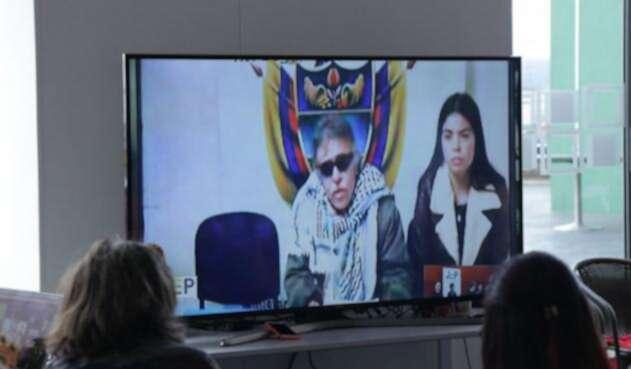 Jesús Santrich, por videoconferencia, ante la JEP