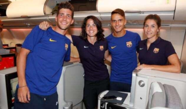Jugadores y jugadoras de los equipos del FC Barcelona