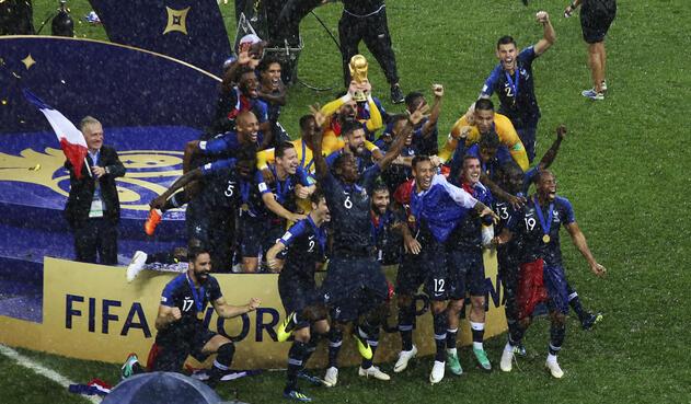 Francia celebra el título del mundo en Rusia 2018