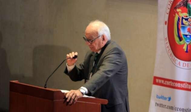 El presidente de Acore, general Jaime Ruiz