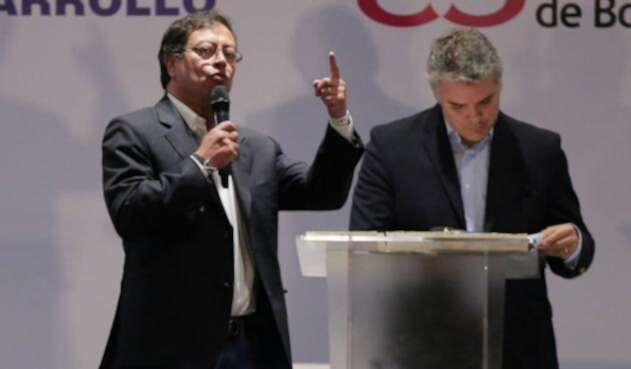 Gustavo Petro e Iván Duque, una pelea política dura en el próximo gobierno
