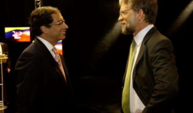 Gustavo Petro y Antanas Mockus, congresistas