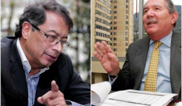 Gustavo Petro, ex candidato presidencial y Guillermo Botero, presidente de Fenalco