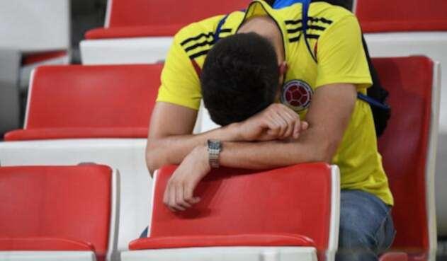 Un hincha de la Selección Colombia en el Spartak Stadium de Moscú
