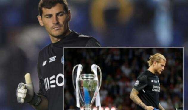 Los arqueros Iker Casillas y Loris Karius