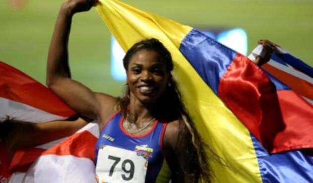 Caterine Ibargüen se colgó la medalla de oro en el salto de longitud en los Juegos Centroamericanos