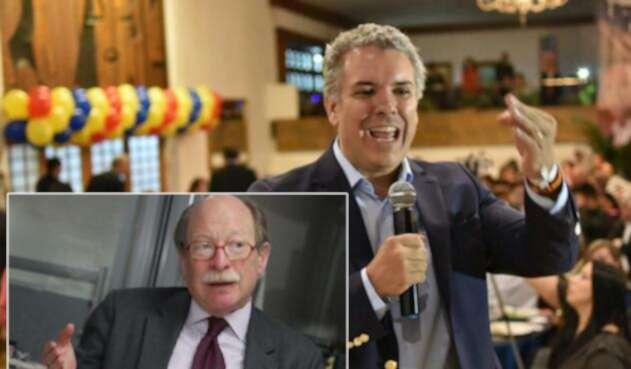Camilo Reyes, embajador de Colombia en EE.UU. e Iván Duque, presidente electo