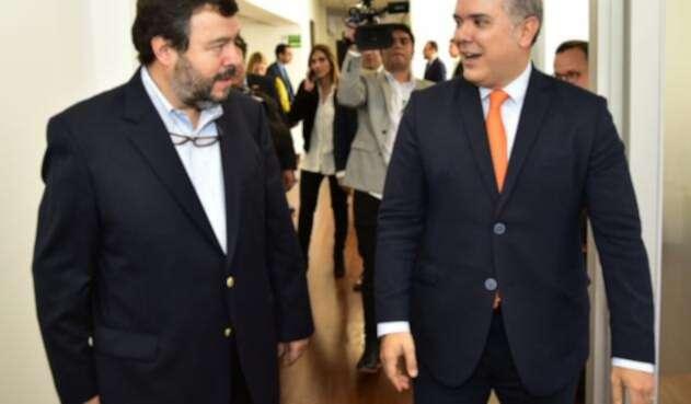 Presidente Iván Duque se reunió con el Defensor del Pueblo, Carlos Negret.
