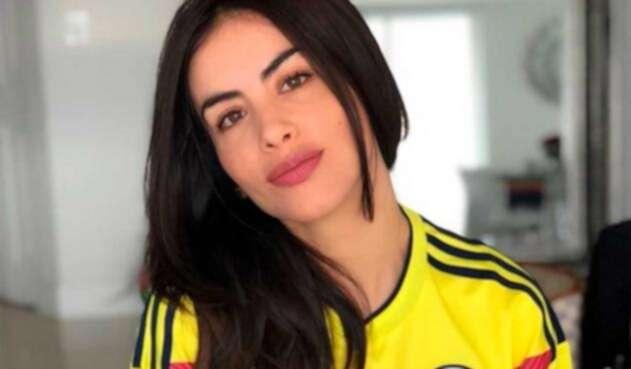 Jessica Cediel con la camiseta de la Selección Colombia
