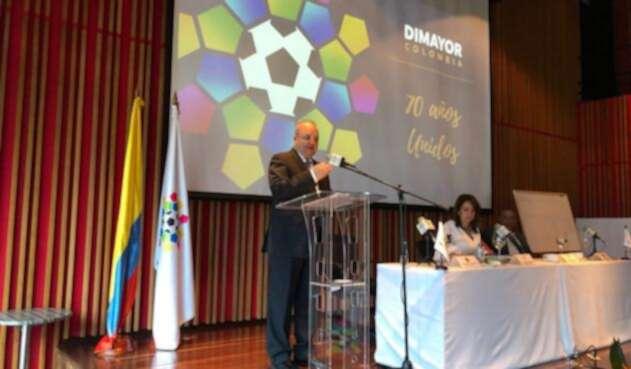 Jorge Enrique Vélez durante el anuncio de la Dimayor