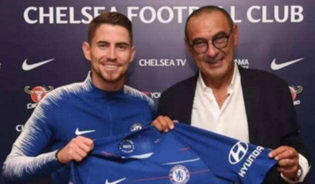 Jorginho y Maurizio Sarri, nuevas incorporaciones del Chelsea