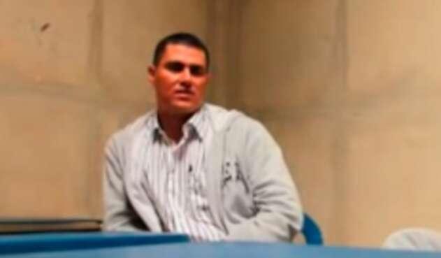 Juan Guillermo Monsalve, el 16 de septiembre de 2011 en la cárcel de Cómbita, en Boyacá