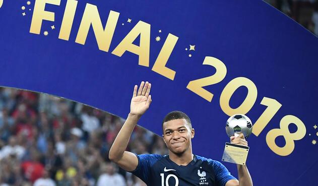 Kylian Mbappé, elegido el mejor jugador joven del Mundial Rusia 2018