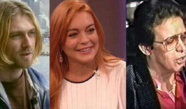 Kurt Cobain, Lindsay Lohan y Héctor Lavoe