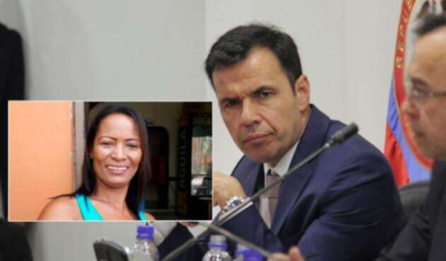 Líder Ana María Cortés y el ministro Guillermo Rivera