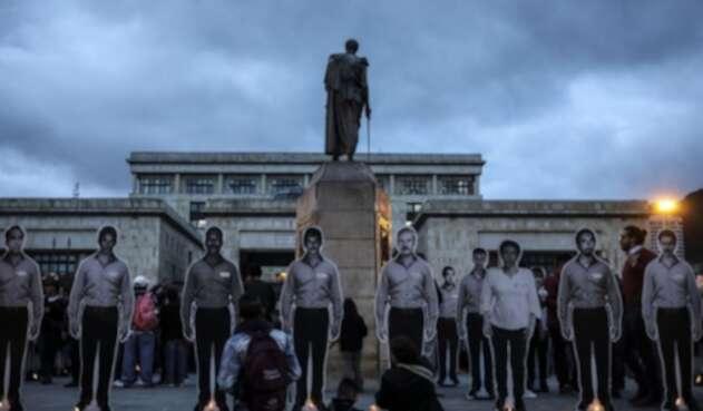 No cesan las protestas por el asesinato de líderes sociales.