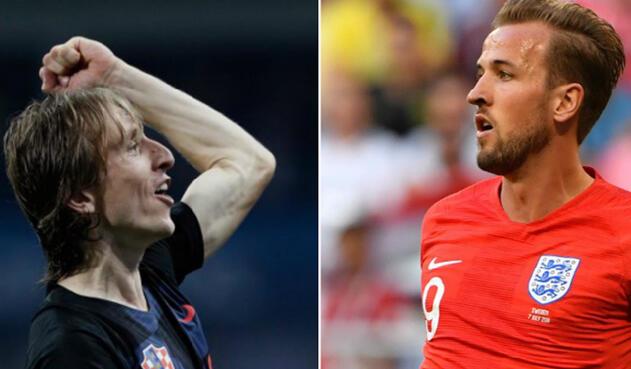 Luka Modrić, centrocampista de Croacia, y Harry Kane, delantero y capitán de Inglaterra