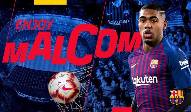 Malcom, presentado como nuevo jugador del FC Barcelona