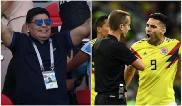 Maradona criticó el arbitraje del partido Colombia vs Inglaterra