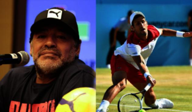 Maradona y Novak Djokovic