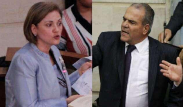 María del Rosario Guerra y Carlos Felipe Mejía, permanentes críticos del Acuerdo de Paz