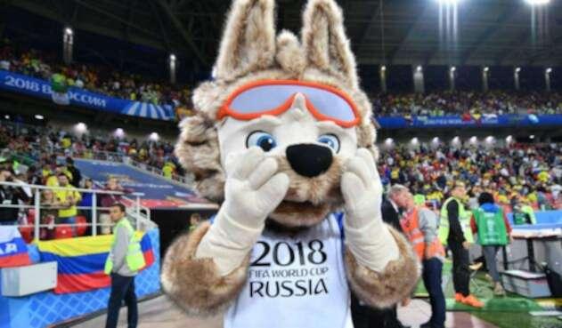 El lobo Zabivaka, la mascota de Rusia 2018