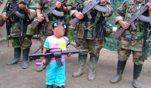 Menores de edad reclutados por las Farc