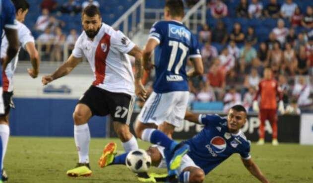 Millonarios perdió en el amistoso ante River Plate