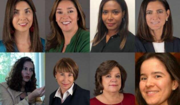 María Victoria Angulo, Nancy Patricia Gutiérrez, María Fernanda Suárez, Alicia Arango, Gloria María Borrero, Ángela María Orozco Gómez, Silvia Constaín