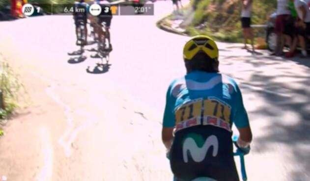 Nairo Quintana, en la etapa 12 del Tour de Francia