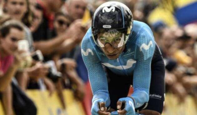 Nairo Quintana, ciclista del Movistar