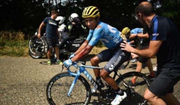 Movistar da a conocer parte médico de Nairo Quintana tras su caída en el Tour