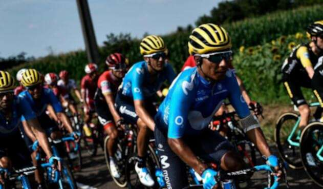 Nairo Quintana durante la etapa 18 del Tour de Francia