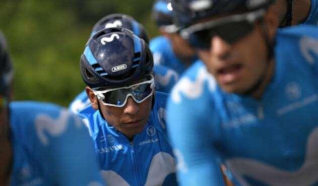 Nairo Quintana en el Tour de Francia 2018 con el Movistar Team