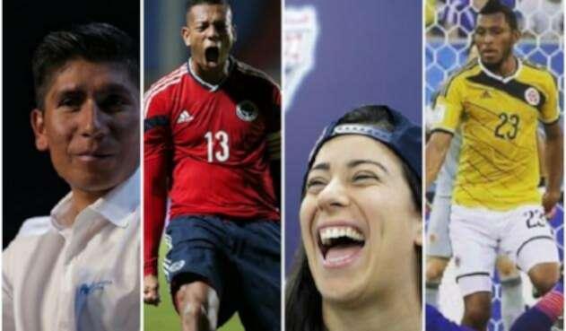 Nairo Quintana, Fredy Guarín, Mariana Pajón y Carlos Valdés, deportistas colombianos