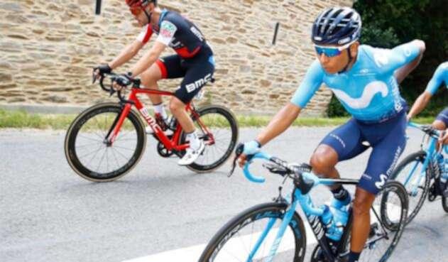Nairo Quintana en la etapa cuatro del Tour de Francia 2018