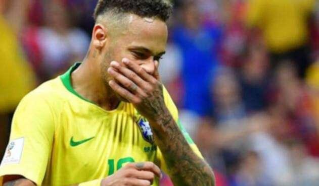 El desconsuelo de Neymar tras caer ante Bélgica