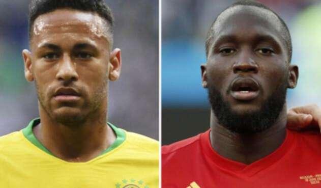 Neymar Jr y Romelu Lukaku