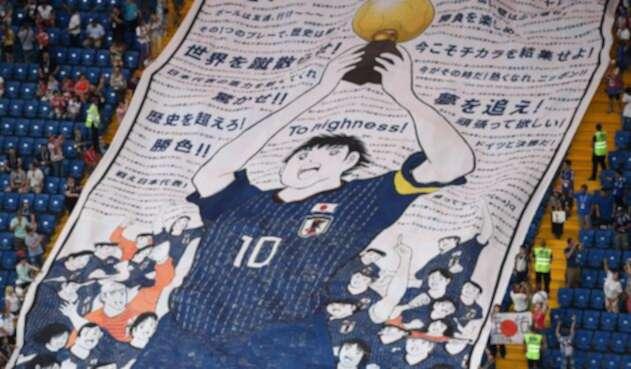 Oliver Atom, de Súper Campeones, evocado en el Japón vs Bélgica