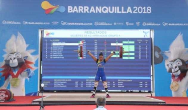 Karool Blanco ganó oro en Levantamiento de Pesas