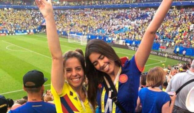 Paulina Vega apoyando a la Selección Colombia en Rusia